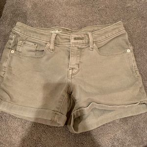 Pants - Olive green high waisted shorts